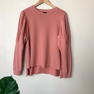 Who What Wear | Raw Edge Hem Pullover Size Small